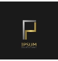 P letter logo vector image