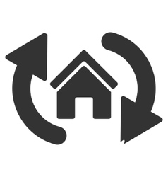 Update house flat icon vector