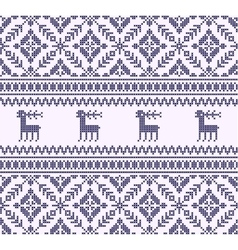 Deers knitting pattern vector