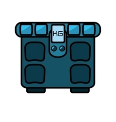 Scale balance gym equipment icon vector