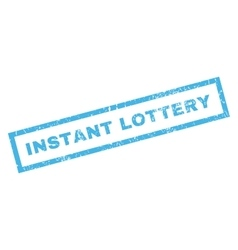 Instant lottery rubber stamp vector