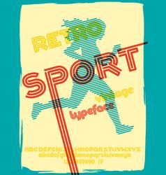 Sport 76 font vector