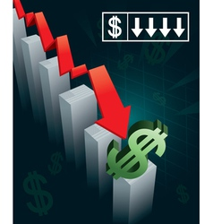 Us currency crash vector
