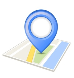 Blue pin on map vector