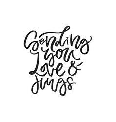 Romantic handdrawn letteirng vector