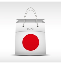 Shopping bag with japan flag vector