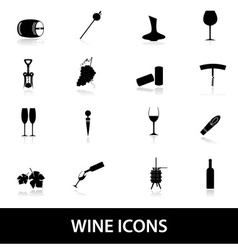 wine icons eps10 vector image