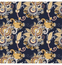 vintage floral seamless paisley pattern vector image