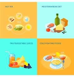 Healthy food flat vector