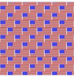 USA flag pattern vector image