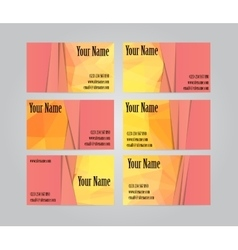 Set of six visit cards vector image