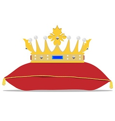 Crown on pillow vector
