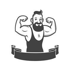 gym emblem vector image