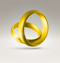 2golden ring vector image