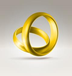 2golden ring vector image
