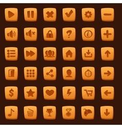 Collection of cartoon menu buttons vector