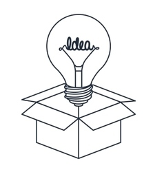 Bulb in box isolated icon design vector
