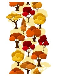 Autumn seamless pattern with abstract stylized vector image