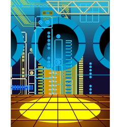 background wall of microcircuits vector image