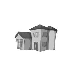 Big house icon black monochrome style vector