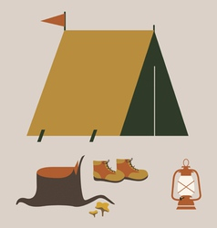 Camping elements vector