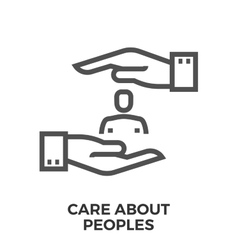 Care about peoples vector image vector image