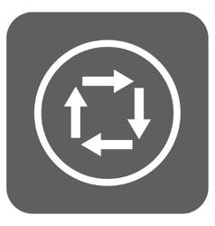 Circulation arrows flat squared icon vector