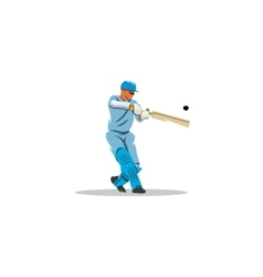 Cricket player hit the ball sign vector image vector image