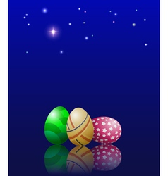 Easter eggs and stars vector image vector image