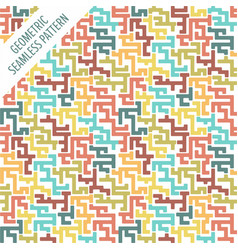 geometric seamless pattern in retro colors old vector image