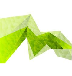 green abstract concept tech polygon background vector image