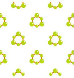 Green molecule structure pattern flat vector