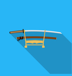 Katana icon in flat style isolated on white vector