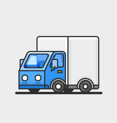 Modern delivery truck icon transportation concept vector