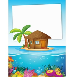 Ocean and sign vector image vector image