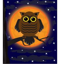 owl on a tree vector image