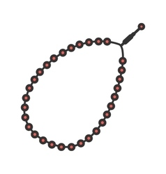 Prayer beads vector