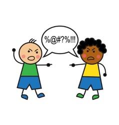 Racial conflict vector