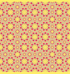 seamless yellow flower pattern vector image
