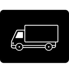 Shipping black truck vector
