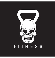 skull in the form of kettlebell fitness concept vector image vector image
