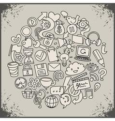 Social network symbols vector