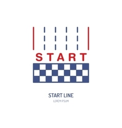 Start line linear icon Speed automobile vector image vector image