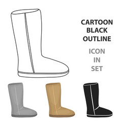 Ugg boots icon in cartoon style isolated on white vector