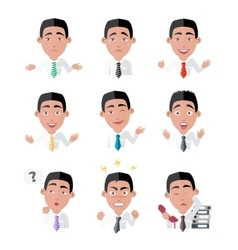Variety of emotions office worker vector