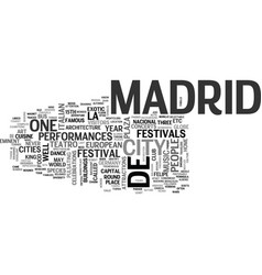What you need to know about madrid travel text vector