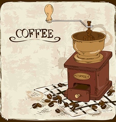 With coffee grinder vector