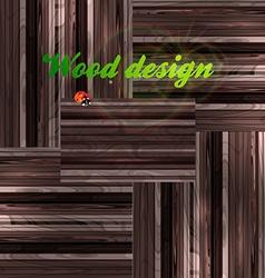 Wood background design vector