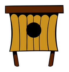 Wooden beehive icon icon cartoon vector
