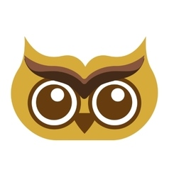 Owl bird cute icon vector